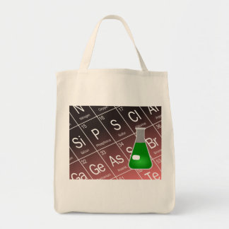 Green Erlenmeyer (Conical) Flask Chemistry Tote Bag