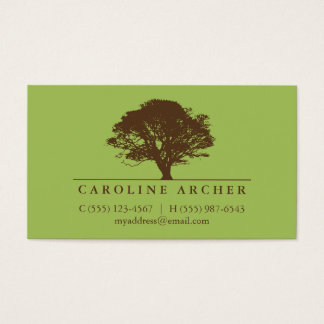Arborist tree service business cards templates zazzle green eternal oak tree elegant style nature business card reheart Image collections