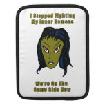 Green Evil Alien Woman Same Side Now Sleeve For iPads