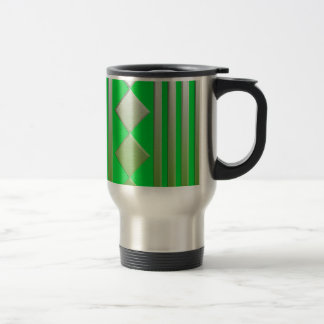 Green examined 15 oz stainless steel travel mug