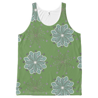 Green examined All-Over-Print tank top