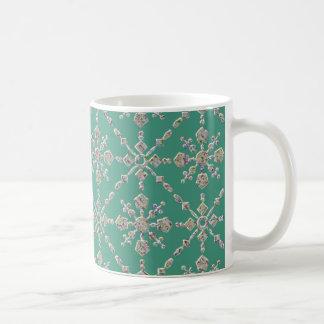 Green examined classic white coffee mug