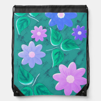Green examined drawstring bag