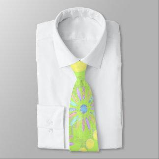 Green examined neck tie