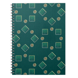 Green examined spiral notebooks