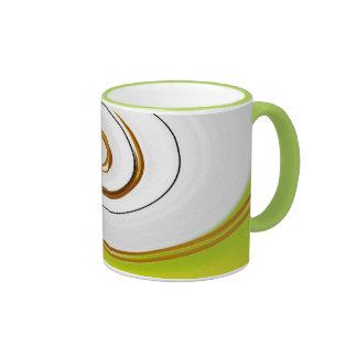 Green examined ringer coffee mug