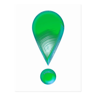 Green Exclamation Mark Postcard