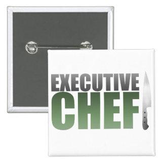 Green Executive Chef Button
