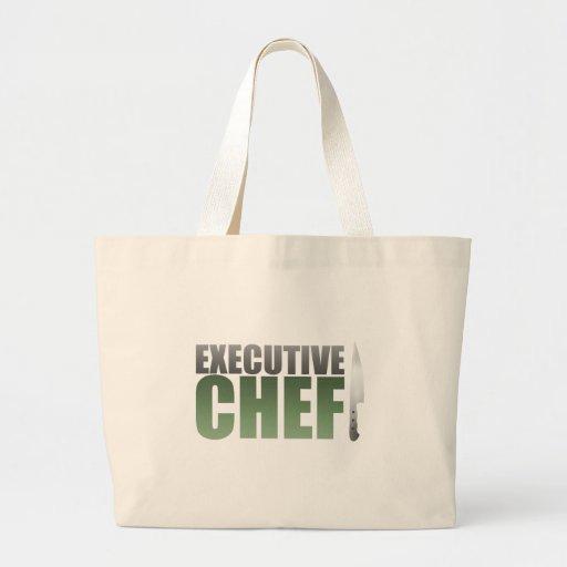Green Executive Chef Canvas Bag