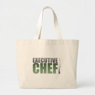 Green Executive Chef Large Tote Bag