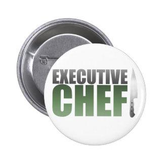 Green Executive Chef Pinback Button