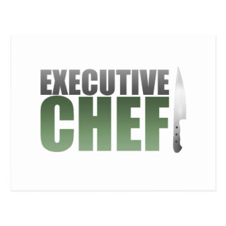 Green Executive Chef Postcard
