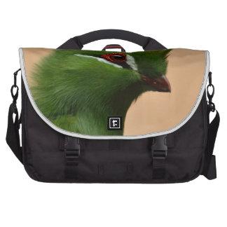 Green Exotic Bird Commuter Bags