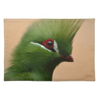 Green Exotic Bird Place Mat