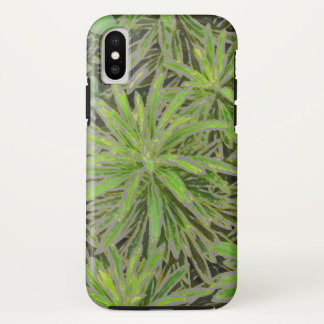 """GREEN """"EXPLOSION"""" /GREEN PLANT WITH DIGITAL EFFECT iPhone X CASE"""