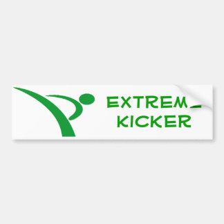 Green Extreme Kicker Bumper Sticker