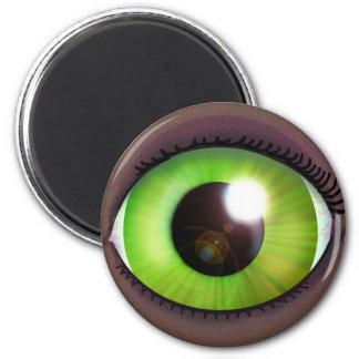 Green Eye 2 Inch Round Magnet