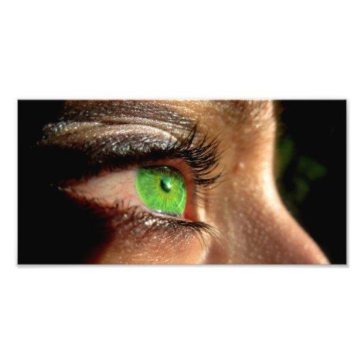 Green Eye Art Photo