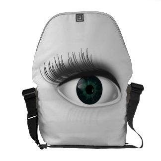 Green eye. courier bag