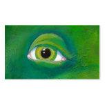 Green eye dinosaur frog lizard ogre painting art Double-Sided standard business cards (Pack of 100)