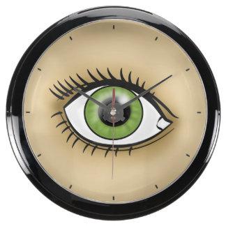 Green Eye icon Aqua Clocks