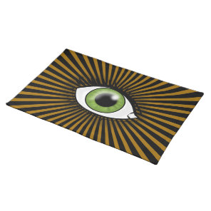 Green Eye icon Cloth Placemat