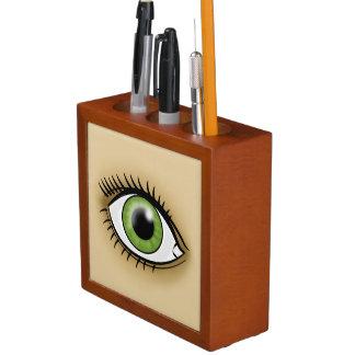 Green Eye icon Desk Organizer