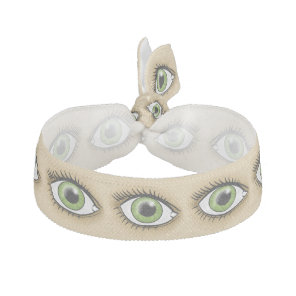 Green Eye icon Elastic Hair Tie