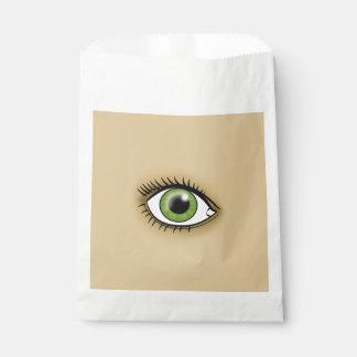 Green Eye icon Favor Bag