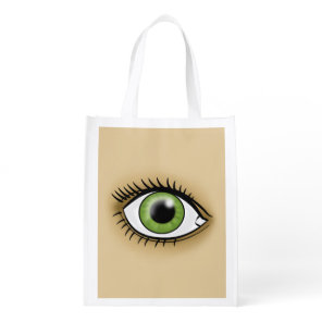Green Eye icon Grocery Bag