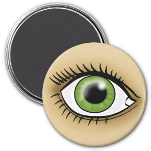 Green Eye icon Magnet