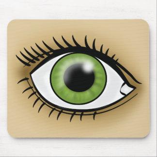 Green Eye icon Mouse Pad