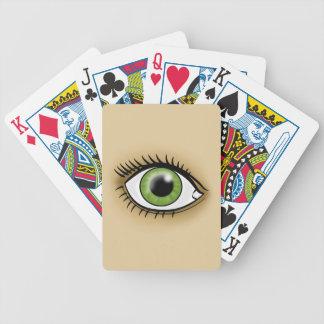 Green Eye icon Bicycle Card Deck