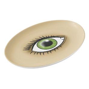 Green Eye icon Porcelain Serving Platter