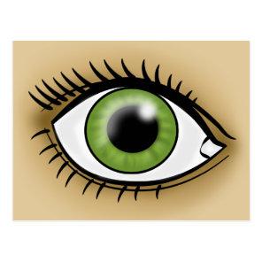 Green Eye icon Postcard