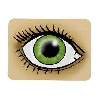 Green Eye icon Rectangular Magnet
