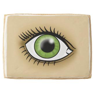 Green Eye icon Shortbread Cookie