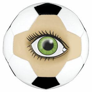 Green Eye icon Soccer Ball