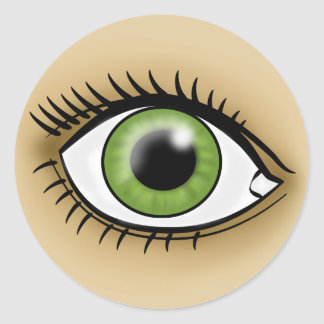 Green Eye icon Stickers