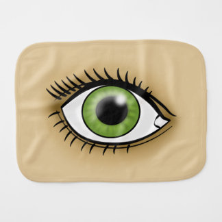 Green Eye icon Burp Cloth