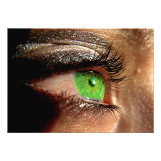 Green Eye Custom Invites
