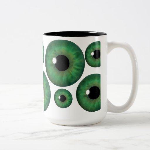 Green Eye Iris Cool Custom Mug Coffee Mug