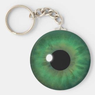 Green Eye Iris Eyeball Cool Custom Round Key Chain