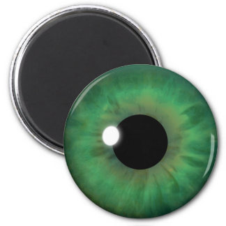 Green Eye Iris Eyeball Cool Custom Round Magnets
