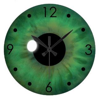 Green Eye Iris Eyeball Custom Large Round Clock