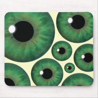 Green Eye Iris Eyeballs Cool Mouse Pad Mousemat