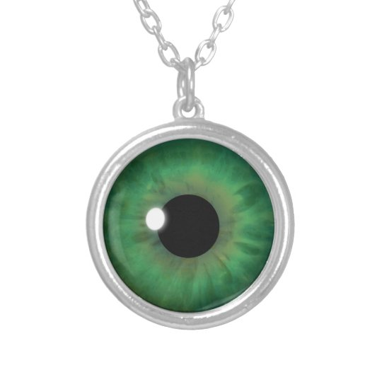 Green Eye Iris Fun Eyeball Custom Cool Necklace