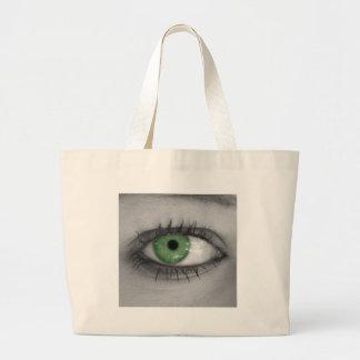 Green Eye Large Tote Bag