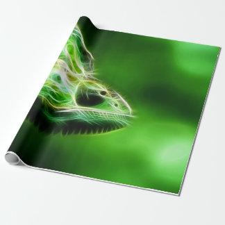 Green Eye Lime Green Lizard Wrapping Paper