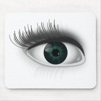 Green eye. mouse pad